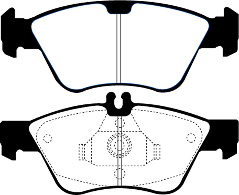 EBC Brakes DP31075C Redstuff Ceramic Low Dust Brake Pad