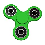 Senders Tri Fidget Hand Spinner, Hand Spinner Fidget Toy Great for Anxiety Stress-Relief for Kids and Adults (Green)