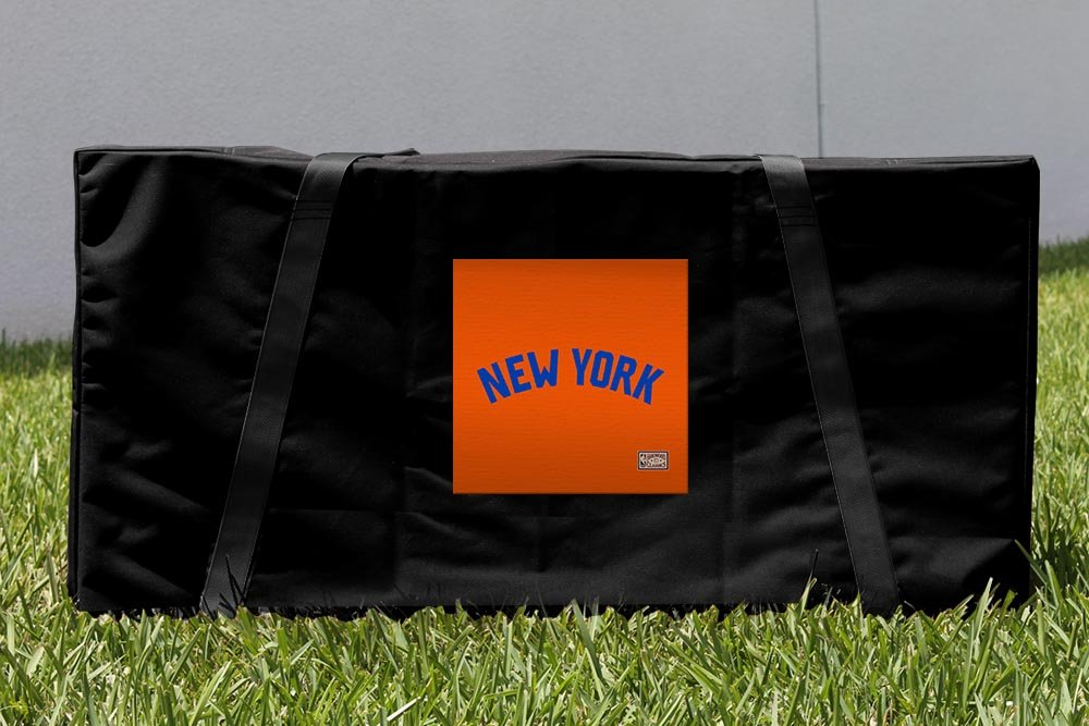 Victory Tailgate New York Knicks NBA Hardwood Classic Cornhole Carrying Case