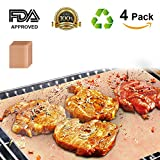 Grill Mat Set of 4, Heavy Duty 100% Non-stick BBQ Grill Mat, Durability reused and easy to clean, FDA-Approved, Healthy Barbecue with Works on Gas ,Charcoal ,Electric Grill and More Oven -16 x 13 Inch For Sale
