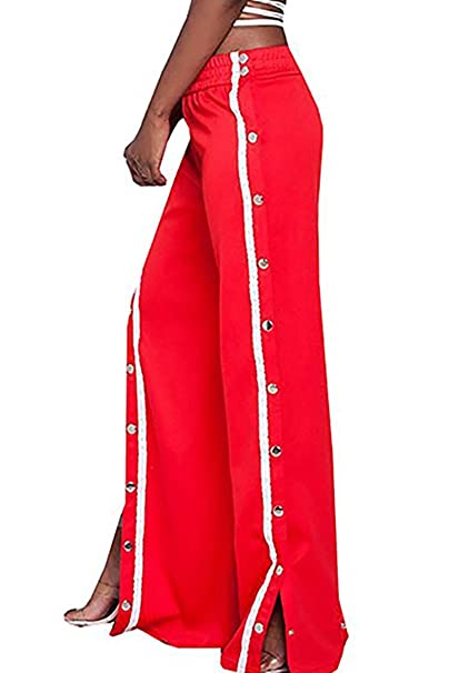 Sunfury Women High Waist Snap Button Striped Palazzo Wide Leg Pants Plus  Size Red XL  Amazon.ca  Clothing   Accessories 637ce5126b8