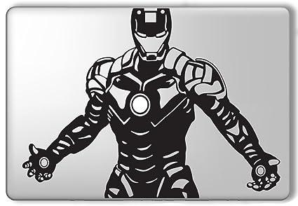 Iron man heart center avengers superhero apple macbook laptop vinyl sticker decal