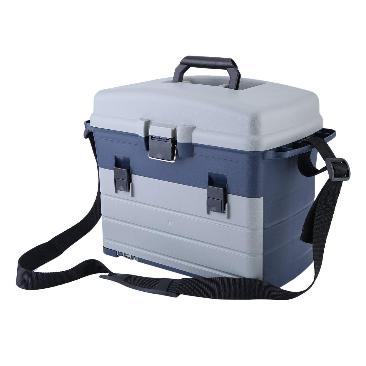 Heavy Duty Fishing Tackle Box 3 Layers Removable Trays Storage Organizer Case Tool Fishing Accessories Lures Bait Storage Box
