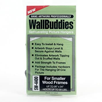 Wall Buddies Hanger for Small Wood Picture Frames - Set of 3 ...