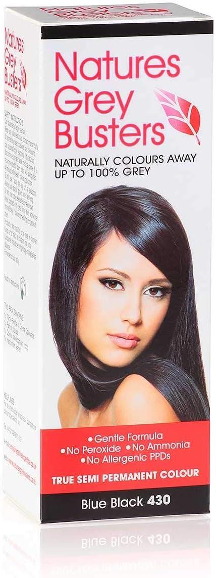 Tinte para el cabello sin PPD, color azul y negro, sin amoniaco, sin peróxidos, natural, seguro (color semi permanente), 70 ml