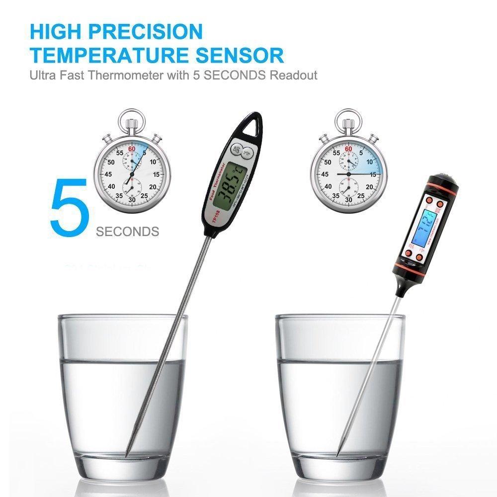 Vick Mall Digital LCD presupuesto Termómetro, termómetro de Cocción, K š ¹ chenthermometer, termómetro de cocina, inmediata Lectura, larga Sonda, ...