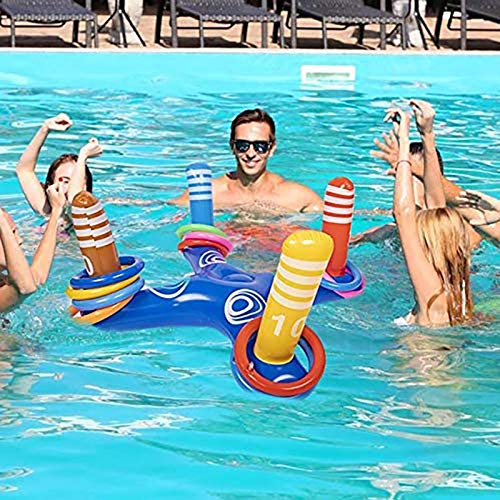 bestheart Inflatable Pool Ring Toss Games Toys,Kid Family Pool Toys & Water Fun Beach Floats Outdoor Play Party Favors for Adults