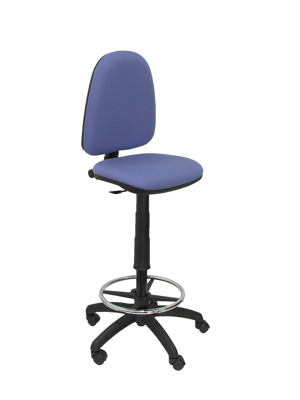 PIQUERAS Y CRESPO t04cp–Sgabello ergonomico, regolabile in altezza e a cerchio Poggiapiedi bleu clair