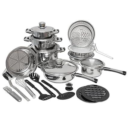eyepower set Batería de Cocina juego de 27 piezas acero ...
