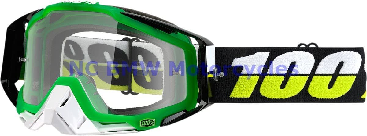 100% Motorcycle Riding Goggle Racecraft SIMBAD Clear Lens