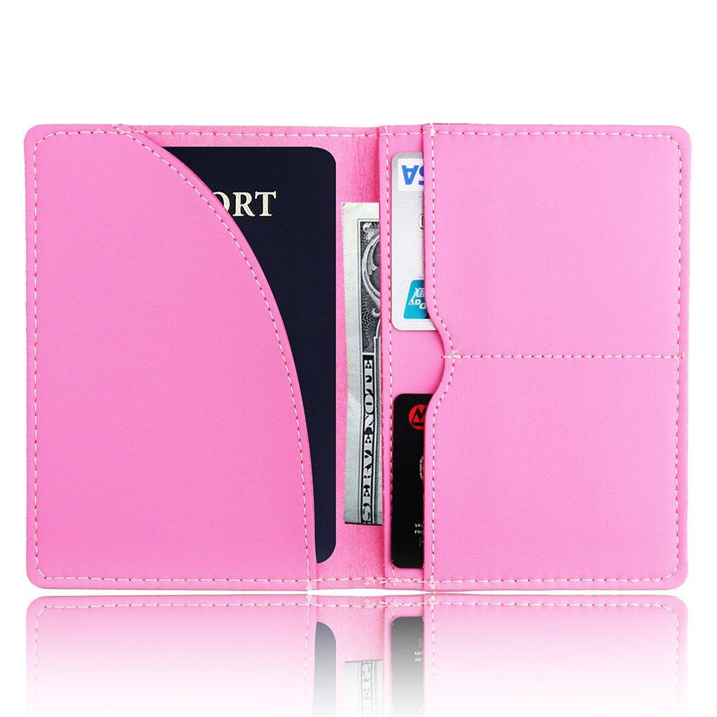 Sarora Passport Case Cover,Ticket Case Cards Organization Leather RFID Blocking Passport Holder