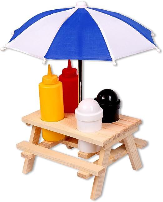 Schramm® Porta-especies Mesa de picnic con sombrilla Menage ...