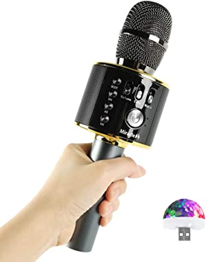 Wireless Bluetooth Karaoke Microphone, Cool Options, Portable Handheld Mic & Speaker for Birthdays, Home Parties, Android/iPhone/PC, car Accessories, MIRACLE-M MIC from Korea