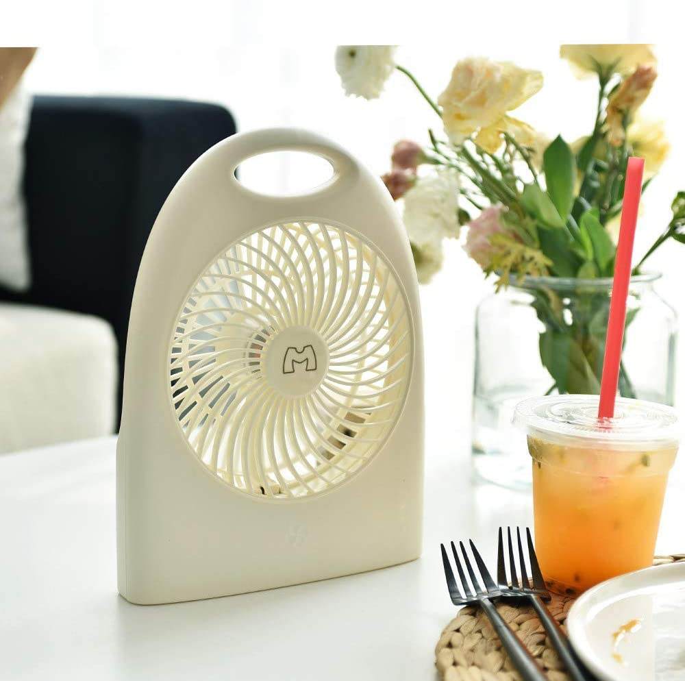 Student Dormitory Bedside Portable Desktop Fan Ccsluo USB Desktop Fan Suitable for Home//Office,White