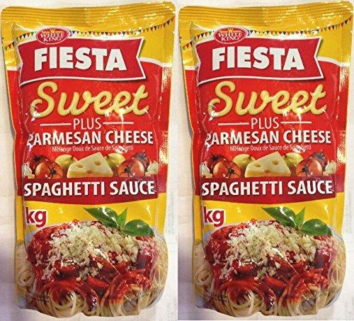 White King Fiesta Spaghetti Sweet Sauce 1kg (Pack of 2) by White King