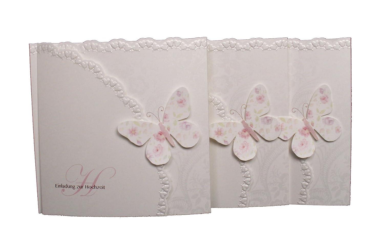 Elegant Einladungskarte Hochzeit Schmetterling 15er Pack: Amazon.de: Bürobedarf U0026  Schreibwaren