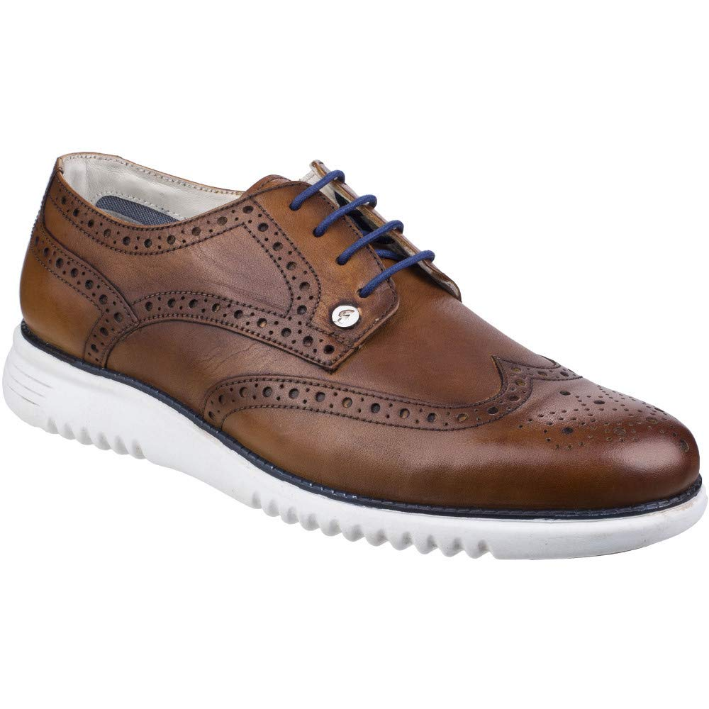 Gabicci Mens Verney Brogue Leather Lace up Casual schuhe