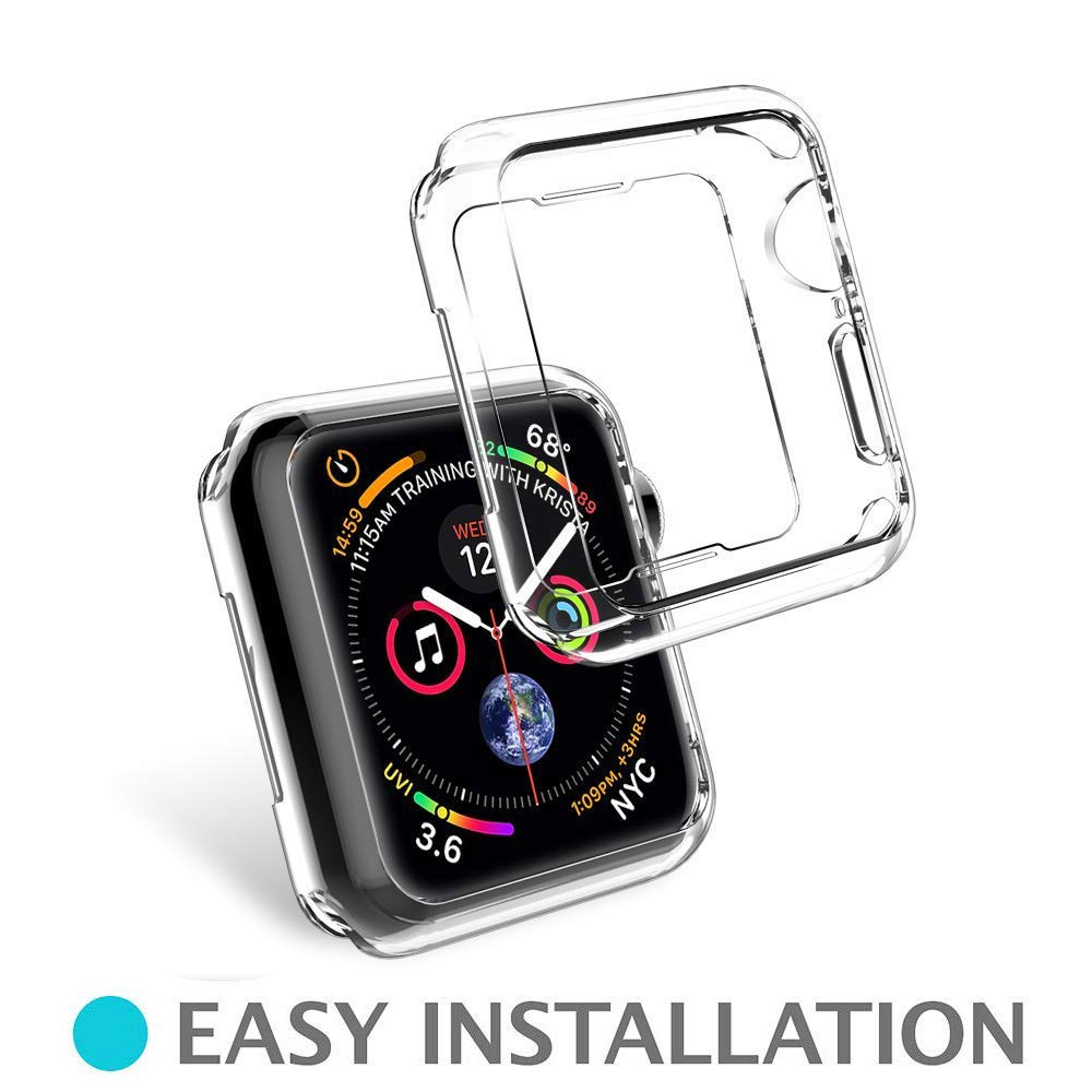 Sandistore Compatible with Apple Watch Case 40mm/44mm Series 4, Soft TPU Screen Protector All-Around Protective 0.3mm HD Clear Ultra-Thin Cover Case for iWatch Series4 40mm/44mm (40mm) by Sandistore Sport (Image #3)