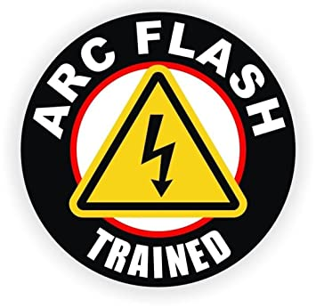 1 pcs superlative popular arc flash trained vinyl sticker signs arc flash badge safe work label