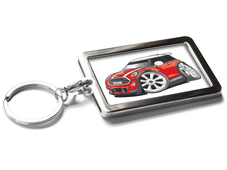 Koolart Dessin animé de Voiture Mini Cooper S Porte-clés en métal Boîte Cadeau, Red Moody Motorz
