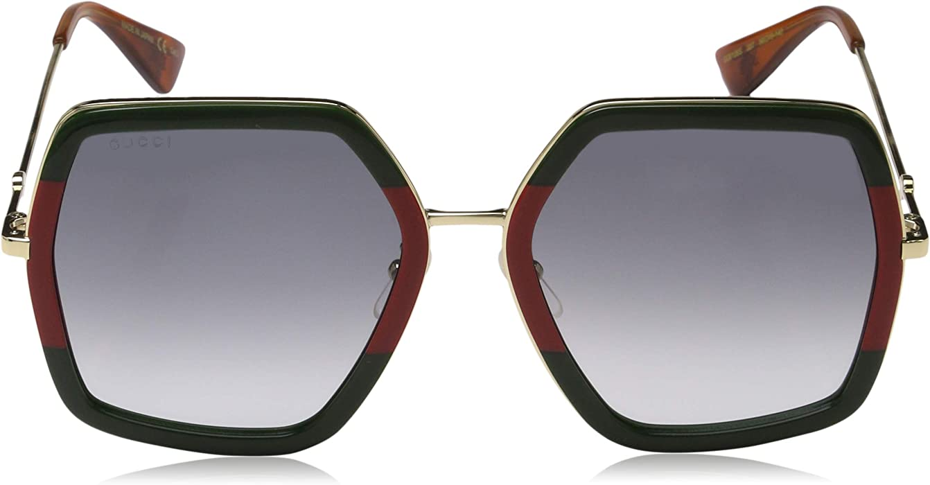 0739a5a6f8922 Amazon.com  Gucci GG 0106 S- GG0106S Sunglasses 56mm  Clothing