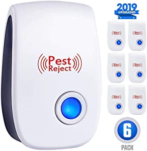 ZEROPEST Ultrasonic New Pest Control Set of 6-Packs Electronic Plug in Repellent Indoor for Flea, Insects, Mosquitoes Mice, Spiders, Ants, Rats, Roaches, Bugs, Non-Toxic, Humans & Pets Saf, Blue