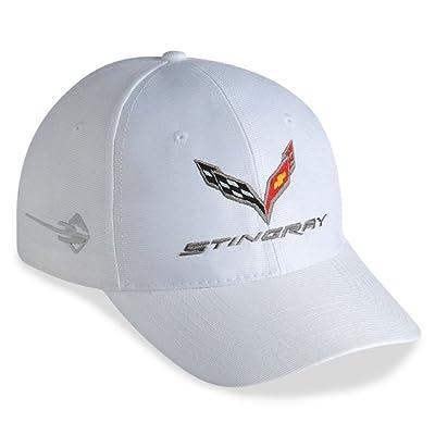 West Coast Corvette - C7 Corvette Embroidered Performance Hat (White): Automotive