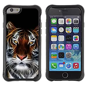 King Case@ Fierce Magical Tiger Rugged hybrid Protection Impact Case Cover For iPhone 6 Plus CASE Cover ,iphone 6 5.5 case,iPhone 6 Plus cover ,Cases for iPhone 6 Plus 5.5