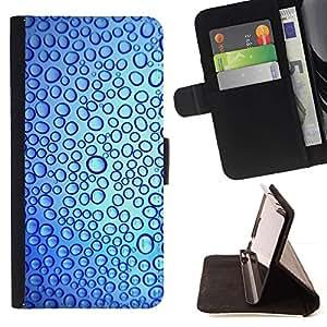 For LG G4 Stylus / G Stylo / LS770 H635 H630D H631 MS631 H635 H540 H630D H542 Case , Gotas Reflexión del agua dulce azul- la tarjeta de Crédito Slots PU Funda de cuero Monedero caso cubierta de piel