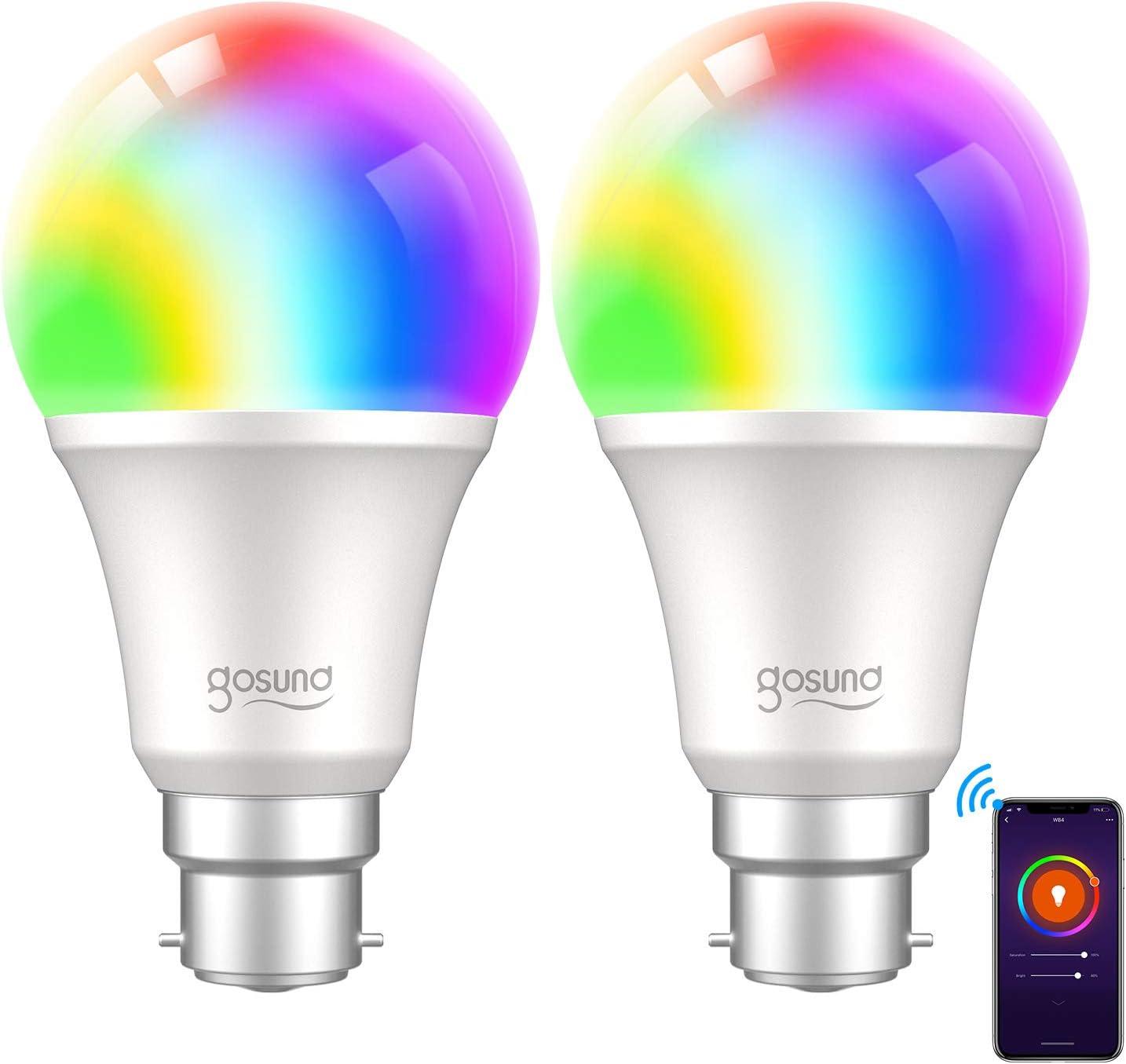MoKo Smart WLAN LED Lamp, GU10 5 W, Dimmable Light: Amazon
