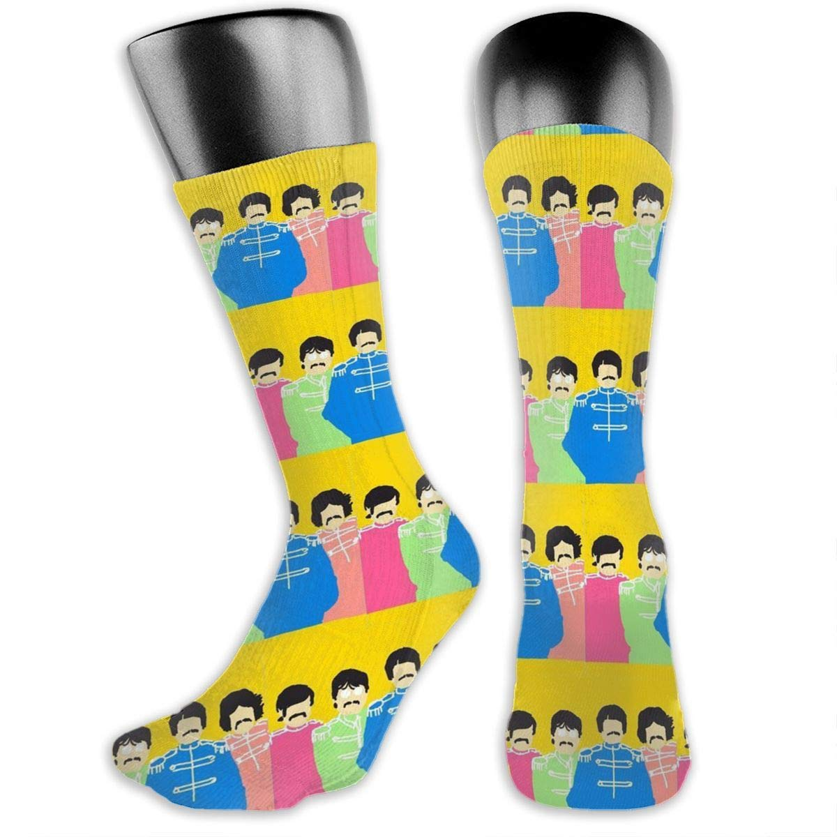 Sgt Peppers Casual Socks Athletic Crew Socks For Female And Male Sports Travel Party Flat Length 15.7 Inch.