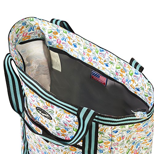 Olympia 2-Piece Rolling Shopper Tote and Cooler Bag, Beach by Olympia (Image #5)