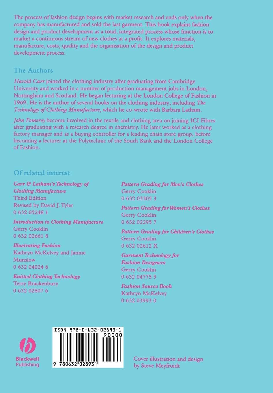 Fashion Design And Product Development Carr Harold Pomeroy John 9780632028931 Amazon Com Books