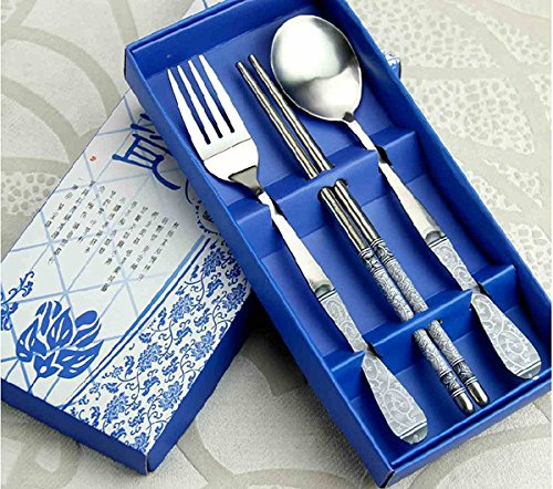 3-in-1-vintage-tableware-set-chinese-style-stainless-steel-chopsticks-spoon-fork-clover-by-skotery-w
