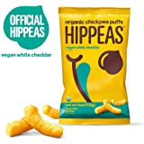 Hippeas Organic Chickpea Puffs, Vegan White Cheddar, 4 Ounce