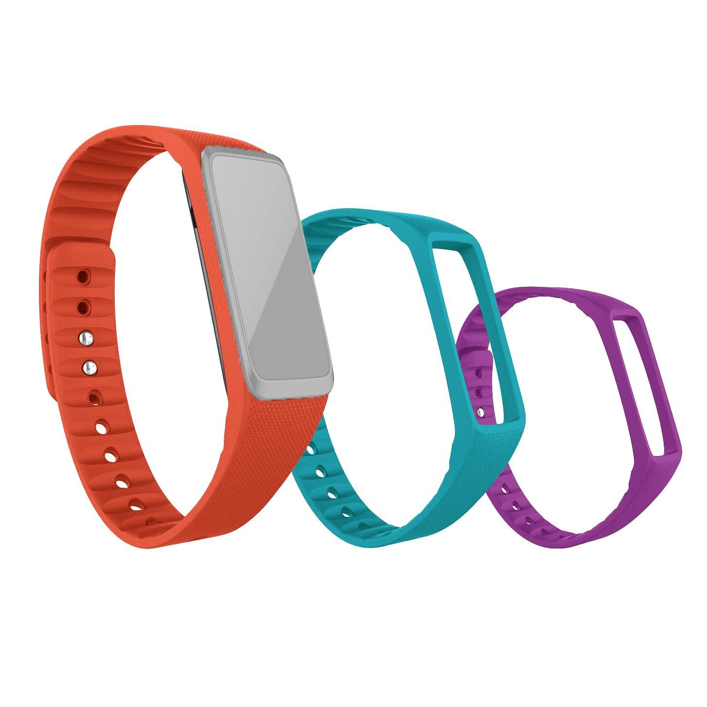 Amazon Striiv Fusion Wristband Orange Light Blue Purple e