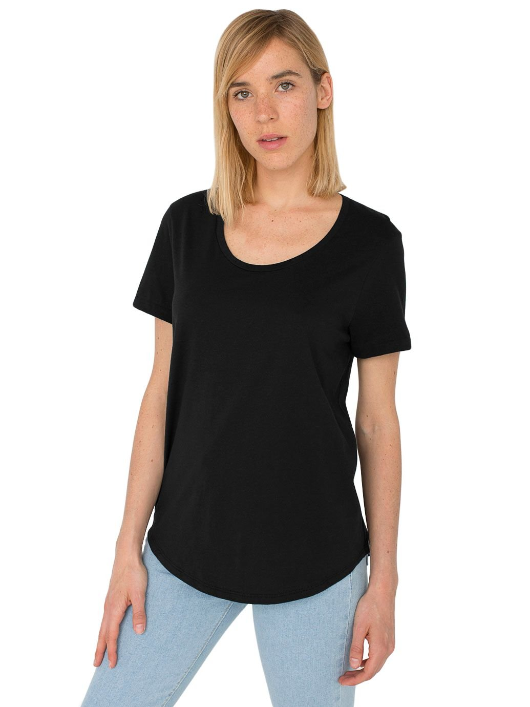 American Apparel Women's Ultra Wash Short Sleeve Tee, Black, Medium