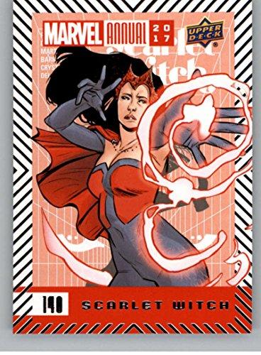 (2018 Upper Deck Marvel Annual #140 Scarlet Witch SP Short Print Marvel Trading Card Scarlet Witch Superhero)