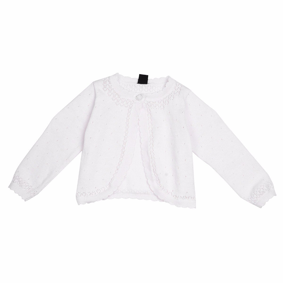 iEFiEL Baby Girls Knit Long Sleeve One Button Closure Bolero Cardigan Shrug