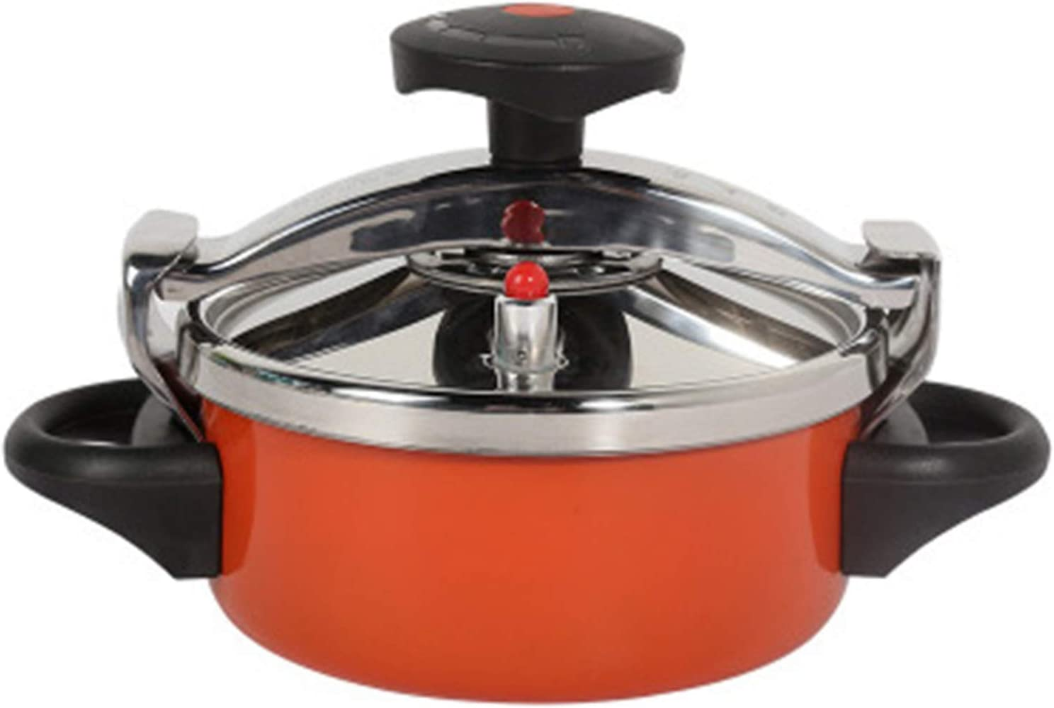 Pressure Cooker Stainless Steel Pressure Cooker Stovetop Stove Top Pressure Cooker Slow Cooker Rice Cooker Steamer Suitable for All Families (Color : Orange, Size : 2L)