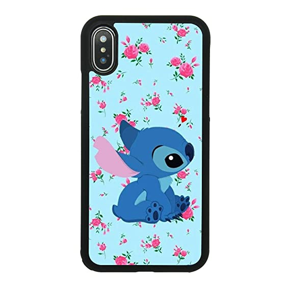 Amazon Com Lilo Stitch Flower Background Case For Iphone