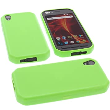 sports shoes 737eb 3c53d foto-kontor Protective case for CAT S41 rubber TPU mobile phone cover green