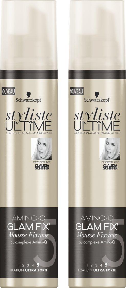 Styliste Ultimes Amino Glam Fix Mousse Fixante 200 ml - Lot de 2 Styliste Ultîme