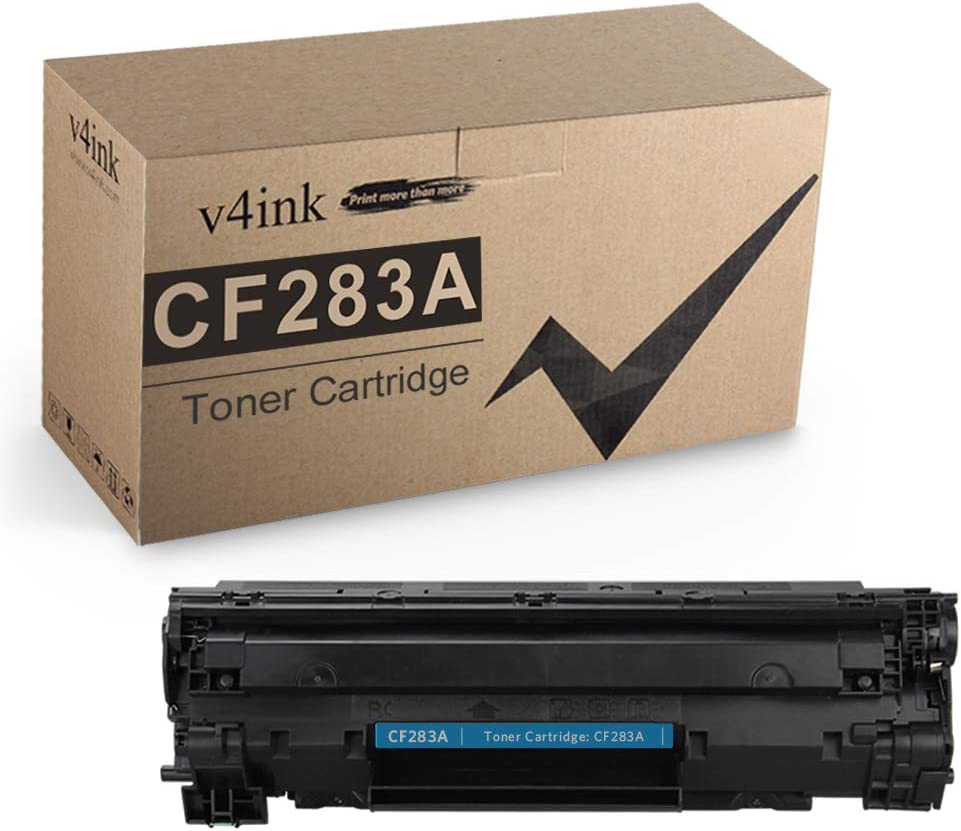 V4INK 1 Pack Compatible Toner Cartridge Replacement for HP CF283A 83A, for use in HP Laserjet Pro HP Laserjet Pro MFP M225dn M225dw M127fw M127fn M201dw M201n M125nw M125a Series Printers