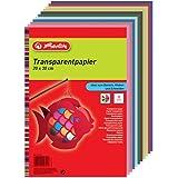 Herlitz 246413 Paquet de 10 Feuilles de papier calque 20x30cmCouleurs Assorties