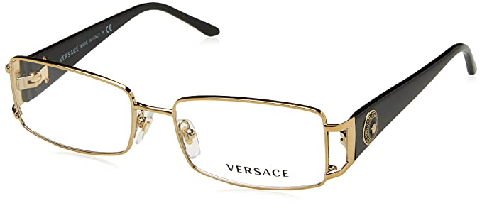 2fe6156a600 Versace Eyeglasses VE1163M 1252 Pale Gold 52 16 130  Amazon.ca ...
