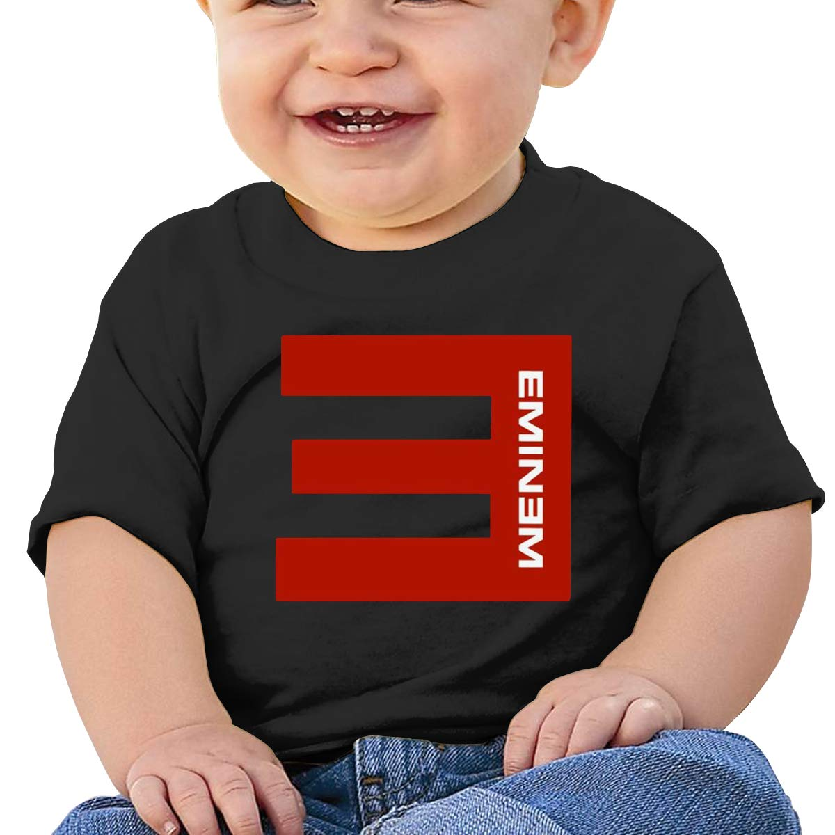 DONGLY 6-24 Month Baby T-Shirt Eminem Nordic Winter Personality Wild Black