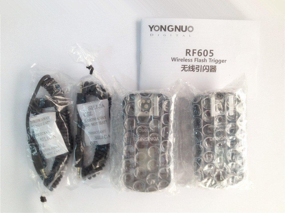 60D//70D//400D //500D //600D //700D //1000D series YONGNUO Wireless Flash Trigger /& Shutter Release RF-605C RF605C for Canon DSLR 1D//7D//5D,10D//20D//30D//40D//50D series
