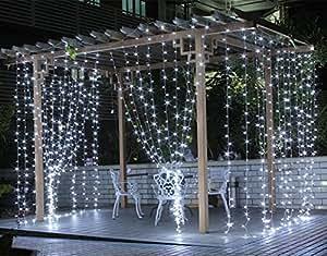 curtain lights surlight 304leds. Black Bedroom Furniture Sets. Home Design Ideas