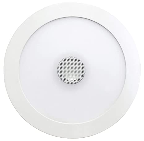 SevenOn LED 64405 Downlight LED SMD extraplano con altavoz redondo, blanco, 18+4W